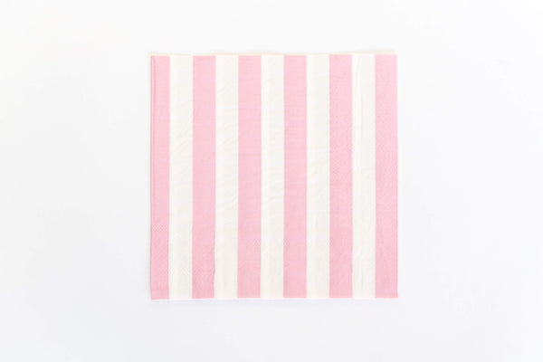 Pink Candy Stripe Napkins (20 Pack)