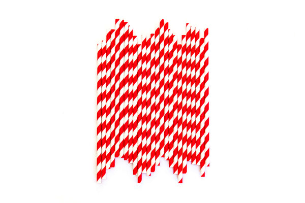 Red Striped Straws (24 Pack)