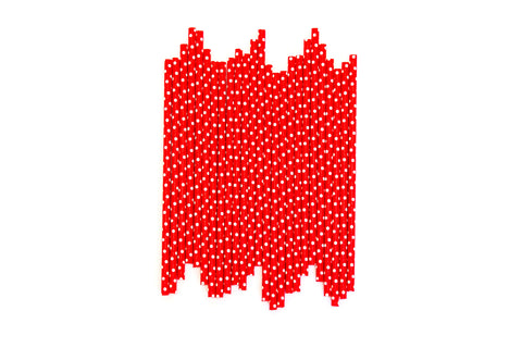 Red Polkadot Straws (24 Pack)