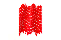 Red with White Stars Straws (24 Pack)