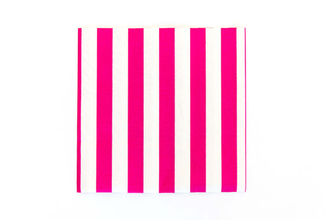 Raspberry Candy Stripe Napkins (20 Pack)