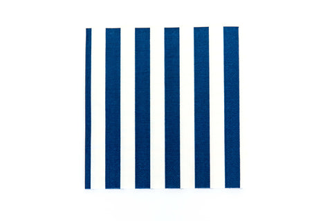 Navy Blue Stripe Napkins (20 Pack)