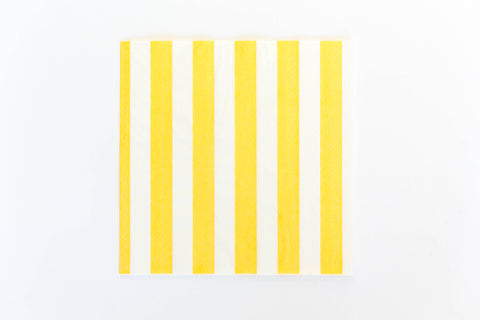 Yellow Stripe Napkins (20 Pack)