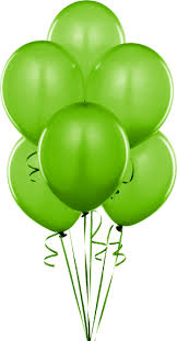 Bright Green Party Balloons