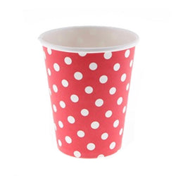 Red Polkadot Cups (12 Pack)