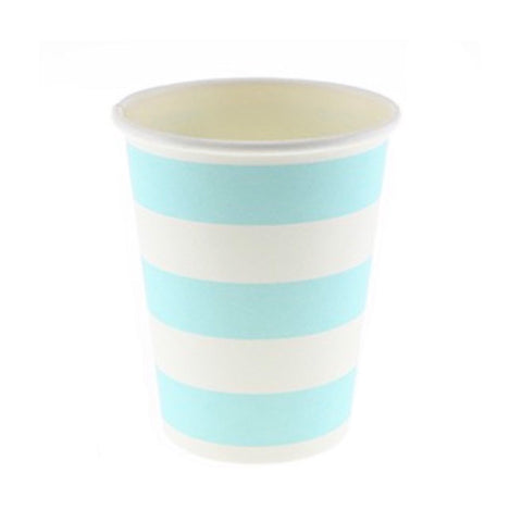 Blue Candy Stripe Cups (12 Pack)