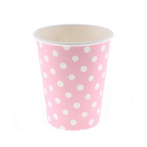 Pink Polkadot Cups (12 Pack)
