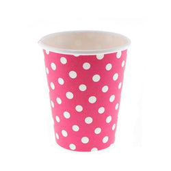 Raspberry Polkadot Cups (12 Pack)