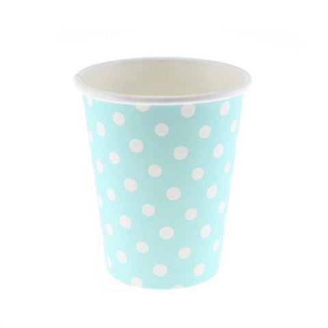 Blue Polkadot Cups (12 Pack)