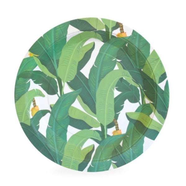 Tropical Leaf Cake Plates (12 Pack)