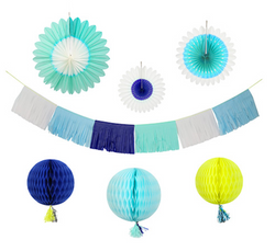 Blue Decorating Garland Kit