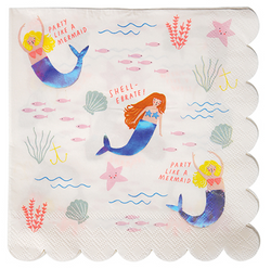 Let's Be Mermaids Napkins (16 Pack)