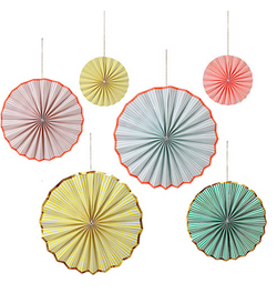 Neon Pin Wheel Decorations (Garlands)