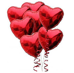 Red Foil Heart Balloon Set
