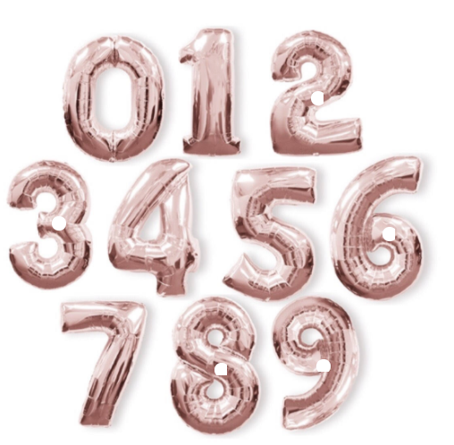Rose Gold Jumbo Number Balloons