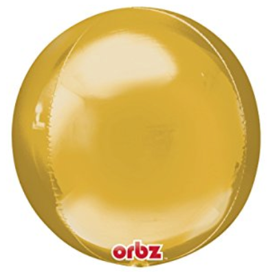 Gold Orbz Shiny Metallic Balloons