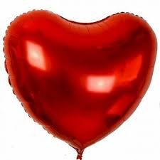 Jumbo Red Heart Foil Balloon