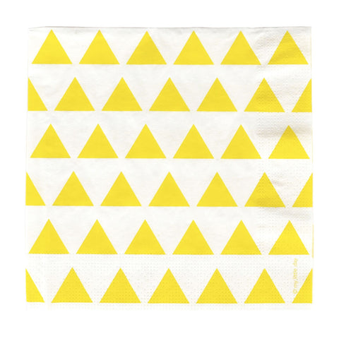 Yellow Triangle Napkins (20 Pack)