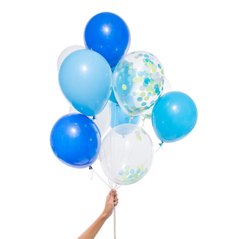 Blue Mix Party Balloons