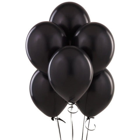 Black Party Balloons (10 pack)