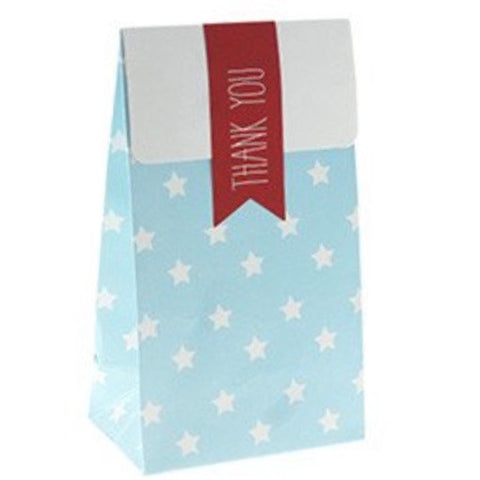 Blue with White Stars Treat Bags (12 Pack)