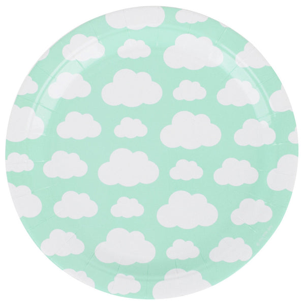 Mint Cloud Plates (8 Pack)