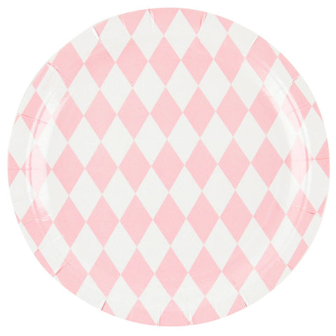 Pink Diamond Plates (8 Pack)