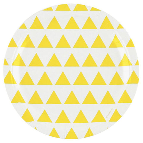 Yellow Triangle Plates (20 pack)