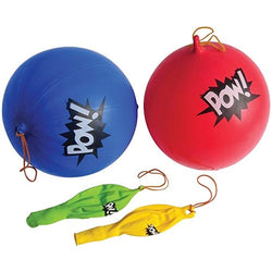 Superhero Themed  'POW' Punch Balloons (12 Pack)
