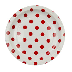 White with Red Polkadots Cake Plates (12 Pack)