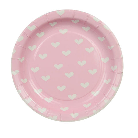 Pink Sweethearts Cake Plates (12 Pack)