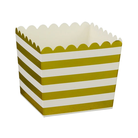 Gold Stripe Scallop Favour Boxes (6 Pack)