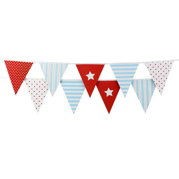 Classic Red & Blue Party Bunting