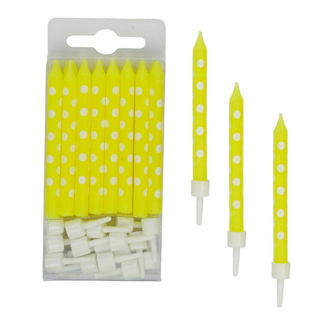 Yellow Polkadot Candles