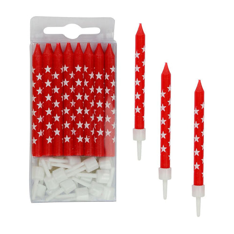 Red Stars Candles