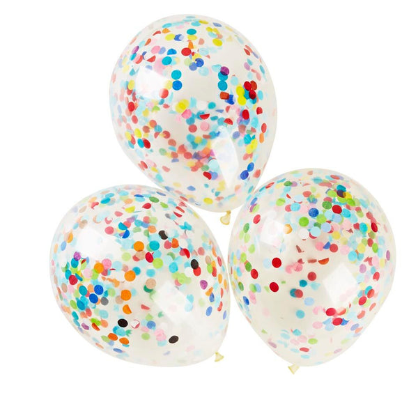 Happy Confetti Party Balloons