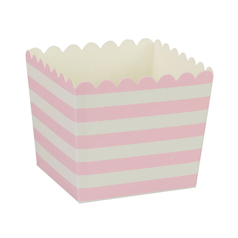 Pink Stripe Scallop Favour Boxes (6 Pack)