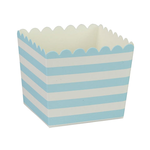 Blue Stripe Scallop Favour Boxes (6 Pack)