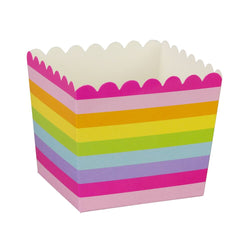 Rainbow Stripe Scallop Favour Boxes (6 Pack)