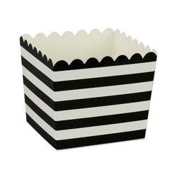 Black Stripe Scallop Favour Boxes (6 Pack)