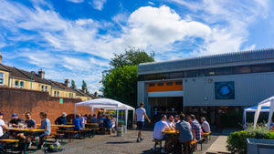 Electric Bear taproom and shop outside view in the sun