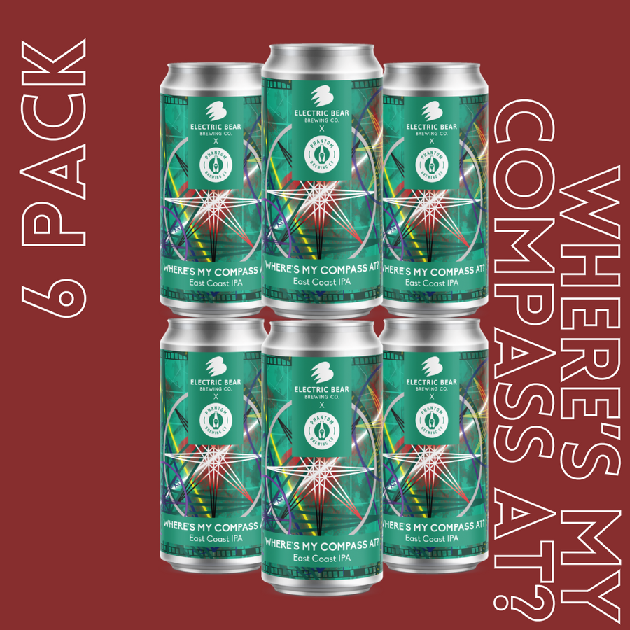 Where's My Compass At? 7.2% East Coast IPA 6 pack