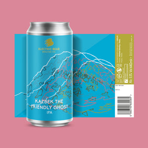 Kazbek The Friendly Ghost - 6 x 440ml cans of 5.5% IPA