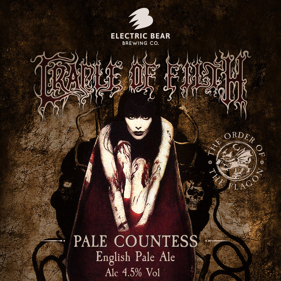 Pale countess cradle of filth beer 4.5% pale ale