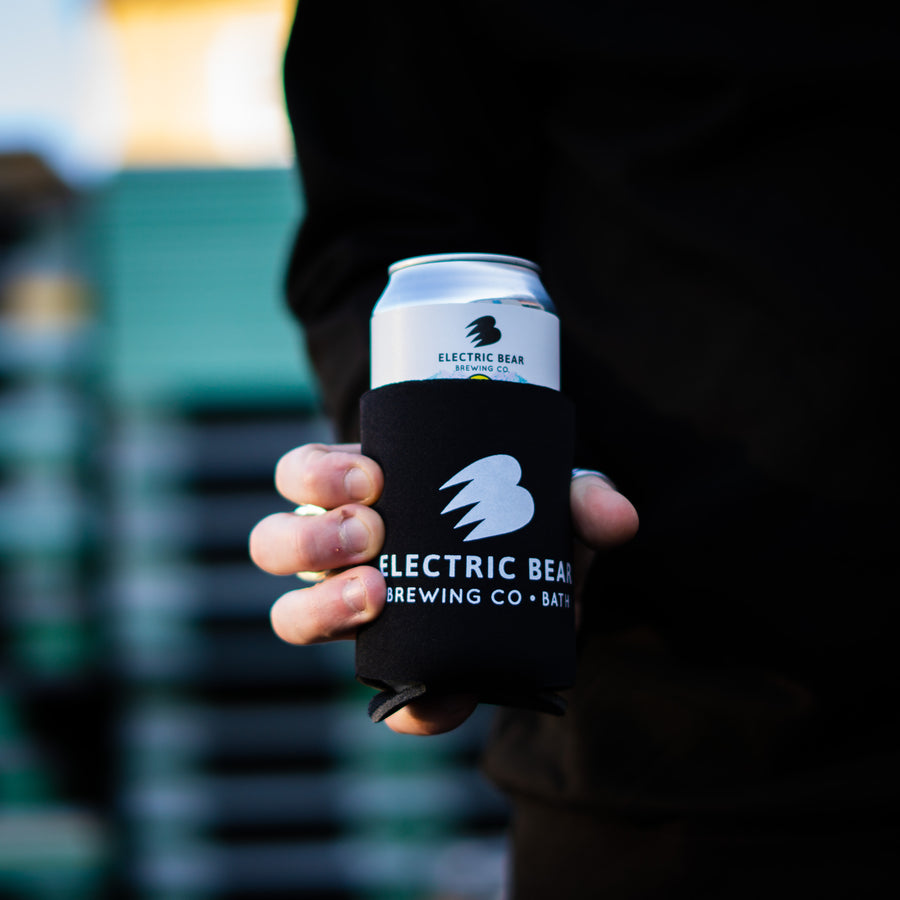Electric bear printed Koozie