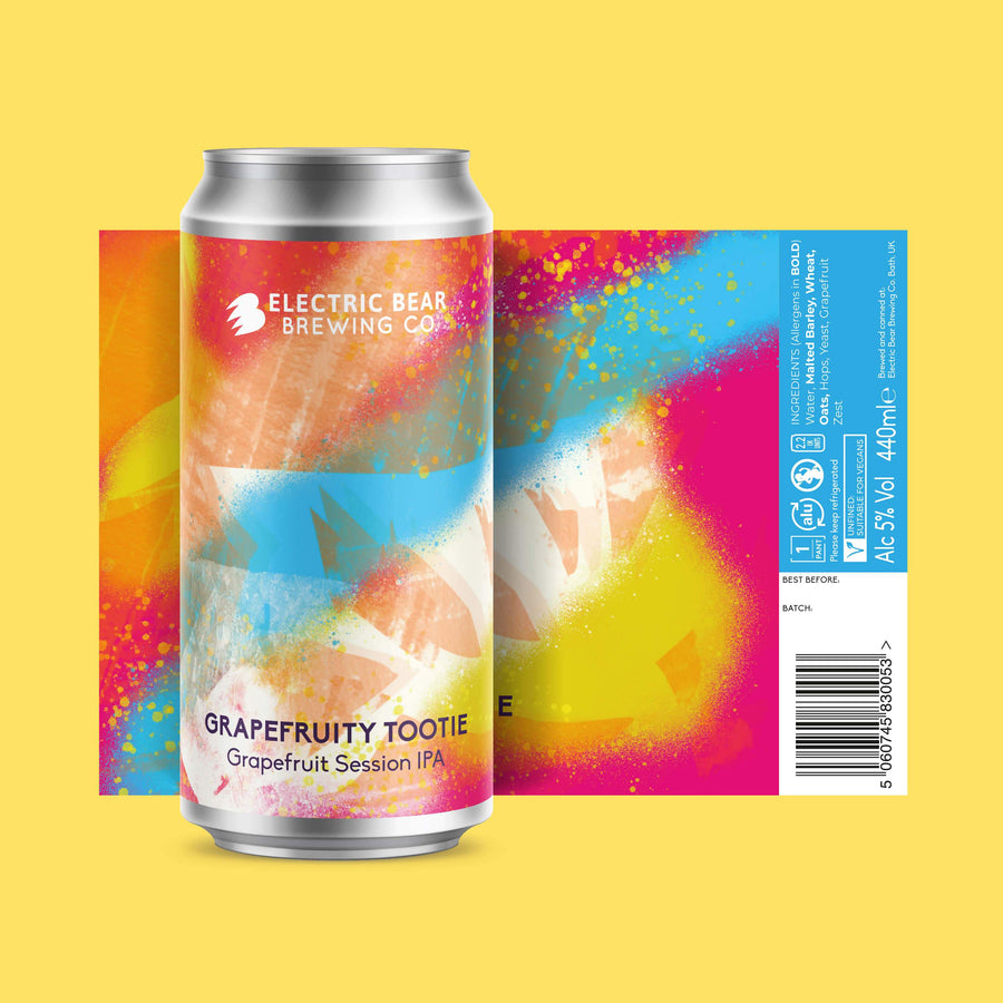 Grapefruity tootie craft beer single can Electric bear