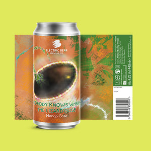 Nobody Knows Where The Lizard Gose - 4.5% Mango Gose 440ml Can