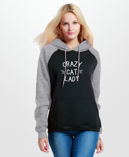 Moletom Feminino Crazy Cat Lady com capuz