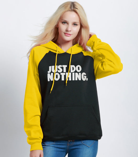 Moletom Feminino Just Do Nothing com capuz
