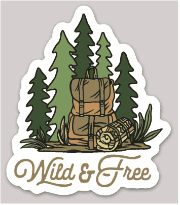 Backpacker Sticker